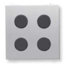 SR-4-N2PL Центральная плата 4-кнопочная free@home, Zenit, серебряный | SR-4-N2PL | ABB