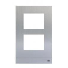 Рамка станции вызова, размер 1/2, серебристый|51022CF-A| ABB