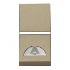 ABB Zenit Шампань Выключатель 1-клавишный кнопочный НО-контакт с символом Звонок (1 мод) | N2104 CV | ABB