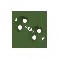 Накладка двойной розетки ProDuct, зеленый | AUD09-05 | ABB