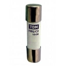 Плавкая вставка ПВЦ-С2 10х38 2А | SQ0729-0003 | TDM