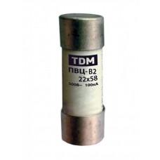 Плавкая вставка ПВЦ-B2 22х58 aR (быстродействующая) 20А | SQ0729-0055 | TDM