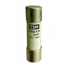 Плавкая вставка ПВЦ-С3 14х51 aR (быстродействующая) 20А | SQ0729-0050 | TDM