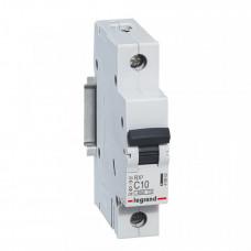 Выключатель автоматический однополюсный RX3 4500 10А C 4,5кА | 419662 | Legrand