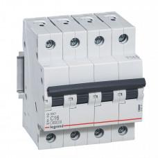 Выключатель автоматический четырехполюсный RX3 4500 20А C 4,5кА | 419742 | Legrand