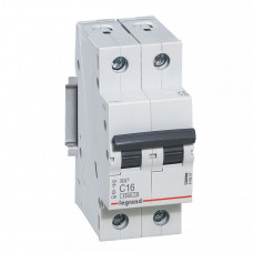 Выключатель автоматический двухполюсный RX3 4500 40А C 4,5кА | 419701 | Legrand
