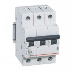 Выключатель автоматический трехполюсный RX3 4500 6А C 4,5кА | 419705 | Legrand