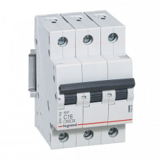 Выключатель автоматический трехполюсный RX3 4500 25А C 4,5кА | 419710 | Legrand