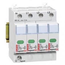 Устройство защиты от импульсных перенапряжений - защита стандартного уровня - Imax 15 кА - 4П   003943   Legrand