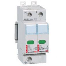 Устройство защиты от импульсных перенапряжений - защита стандартного уровня - Imax 15 кА - 2П   003941   Legrand
