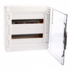 Распределительный щиток XL3 125 - с прозрачной дверью - 2 ряда - 36 модулей - 450х450х128 мм   401657   Legrand