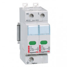 Устройство защиты от импульсных перенапряжений - защита повышенного уровня - Imax 40 кА - 2П   003931   Legrand