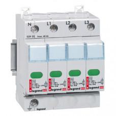Устройство защиты от импульсных перенапряжений - защита повышенного уровня - Imax 40 кА - 4П   003933   Legrand