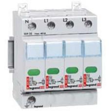 Устройство защиты от импульсных перенапряжений - защита высшего уровня - Imax 70 кА - 4П   003923   Legrand