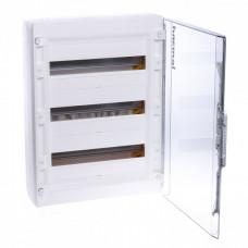 Распределительный щиток XL3 125 - с прозрачной дверью - 3 ряда - 54 модуля - 600х450х128 мм   401658   Legrand