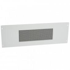 Вентиляционная лицевая панель на винтах XL3 800/4000 - высота 200 мм - 24 модуля   020949   Legrand