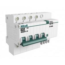 Выключатель автоматический дифференциальный ДИФ-101 4п 50А C 300мА тип AC (8 мод)   15048DEK   DEKraft