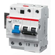 Выключатель автоматический дифференциальный DS202 M 2п 6А C 30мА тип AC (4 мод)   2CSR272001R1064   ABB