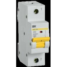 Выключатель автоматический однополюсный ВА47-150 63А C 15кА | MVA50-1-063-C | IEK