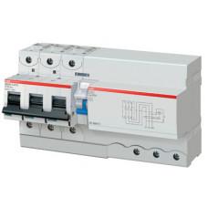 Выключатель автоматический дифференциальный DS803S 3п 125А B 300мА тип A (11 мод) | 2CCA863005R0845 | ABB