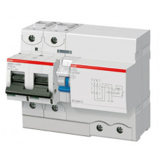 Выключатель автоматический дифференциальный DS802S 2п 125А D 300мА тип A (8 мод) | 2CCA862005R0841 | ABB