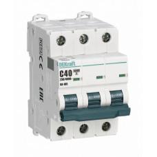 Выключатель автоматический трехполюсный ВА-105 20А B 10кА | 13130DEK | DEKraft