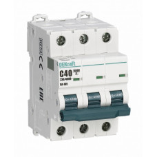 Выключатель автоматический трехполюсный ВА-105 40А B 10кА | 13133DEK | DEKraft