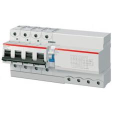 Выключатель автоматический дифференциальный DS804N 4п 125А D 300мА тип A (13 мод) | 2CCA894005R0841 | ABB