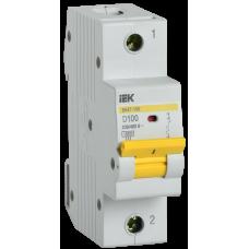 Выключатель автоматический однополюсный ВА47-150 100А D 15кА | MVA50-1-100-D | IEK