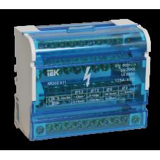 Шины на DIN-рейку в корпусе (кросс-модуль) 3L+PEN 4х11 | YND10-4-11-125 | IEK