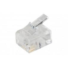 Разъём RJ12 UTP для кабеля кат.3, 6P6C   CS3-1C3U   ITK