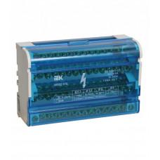 Шины на DIN-рейку в корпусе (кросс-модуль) L+PEN 2х15 | YND10-2-15-125 | IEK