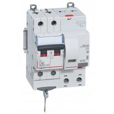 Выключатель автоматический дифференциальный DX3 6000 2п 40А С 30мА тип AС (4 мод) | 411162 | Legrand