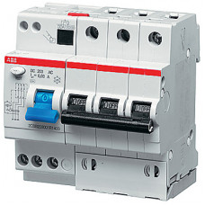 Выключатель автоматический дифференциальный DS203 M 3п 20А B 30мА тип AC (5 мод)   2CSR273001R1205   ABB