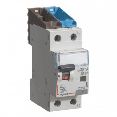 Выключатель автоматический дифференциальный DX3 6000 1п+N 32А С 30мА тип A | 411053 | Legrand