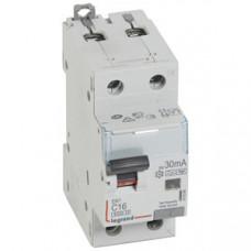 Выключатель автоматический дифференциальный DX3 6000 1п+N 16А С 30мА тип HPI | 411094 | Legrand