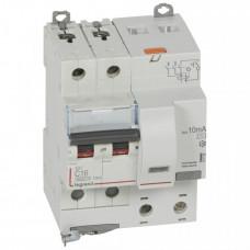 Выключатель автоматический дифференциальный DX3 6000 2п 16А С 10мА тип AС (4 мод) | 411150 | Legrand
