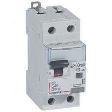 Выключатель автоматический дифференциальный DX3 6000 1п+N 40А С 300мА тип AС | 411028 | Legrand