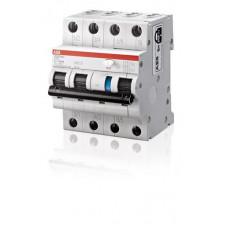 Выключатель автоматический дифференциальный DS203NC L 3п+N 10А C 30мА тип AC | 2CSR246040R1104 | ABB