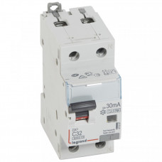 Выключатель автоматический дифференциальный DX3 6000 1п+N 32А С 30мА тип HPI | 411097 | Legrand