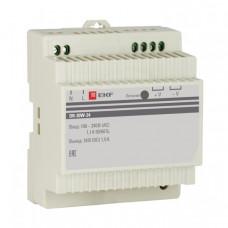 Блок питания 24В DR-30W-24 EKF PROxima | dr-30w-24 | EKF