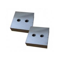 Нож для резчика арматуры-GQ 40A, GQ 42A (к-т из 2-х деталей, 2 отверстия М14, 84х84х26мм)   490449   ТСС