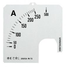 Шкала для амперметра SCL 2/80 60MV   2CSM230179R1041   ABB
