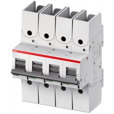Выключатель автоматический четырехполюсный S804S R 80А C 50кА (S804S-C80-R)   2CCS864002R0804   ABB