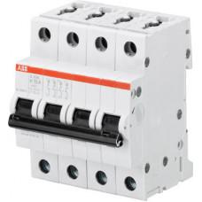 Выключатель автоматический четырехполюсный S204M 4А K 10кА (S204M K4)   2CDS274001R0337   ABB