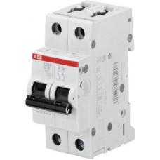 Выключатель автоматический двухполюсный S202M 63А C 10кА (S202M C63) | 2CDS272001R0634 | ABB