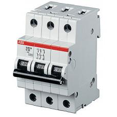Выключатель автоматический трехполюсный S203P 2А D 25кА (S203P D2)   2CDS283001R0021   ABB