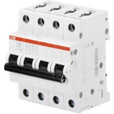 Выключатель автоматический четырехполюсный S204M 6А C 10кА (S204M C6) | 2CDS274001R0064 | ABB