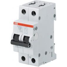 Выключатель автоматический двухполюсный (1п+N) S201M 2А D 10кА (S201M D2NA) | 2CDS271103R0021 | ABB