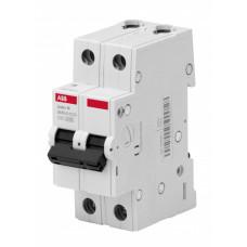 Выключатель автоматический двухполюсный BMS412C10 10А C 4,5кА (BMS412C10) | 2CDS642041R0104 | ABB